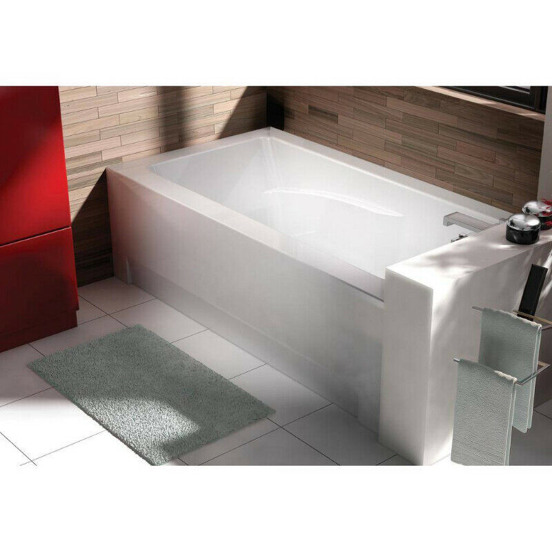 oceania ci60 city 60 alcove right drain bathtub aero massage whi