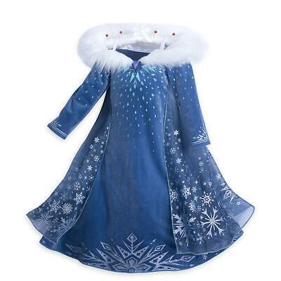 Girls Elsa Frozen Dress Up Movie Halloween Birthday Party 3-6 Years Gift