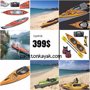 kayak portable(gonflable) haut de gamme a partir de 399$
