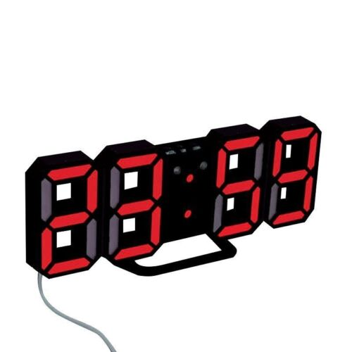 Modern Design Digital Led Skeleton Wall Clock Timer 24/12 3D Alarm Watch 2017