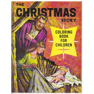 THE CHRISTMAS STORY 1961 LELAND VINTAGE COLORING BOOK
