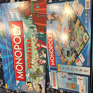 Futurama Monopoly out of print, rare board game