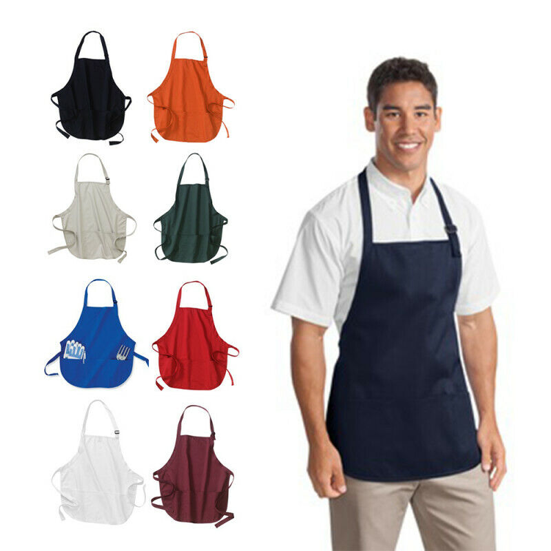 Port Authority Medium-Length Apron with Pouch Pockets