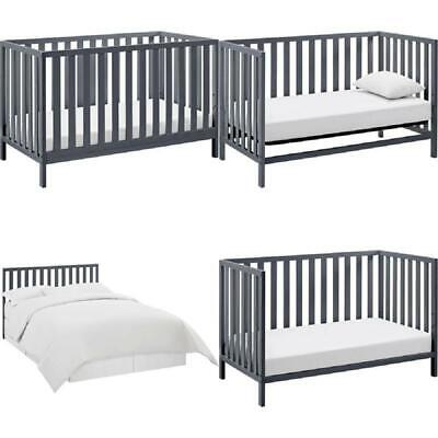 Grey Convertible Baby Crib Day Bed 4 In 1