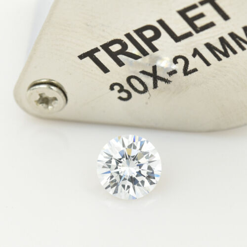 7.5mm 1.5ct White D Color VVS1 Excellent Quality Moissanite With  Certificate