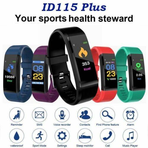 Bluetooth Smartwatch Herzfrequenz Blutdruck Sport Armbanduhr Fitness Tracker