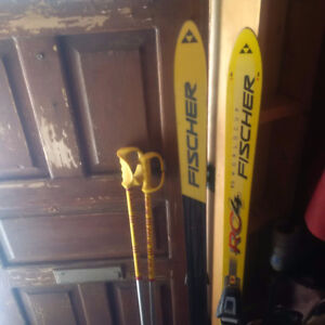 Fischer Skis and Poles