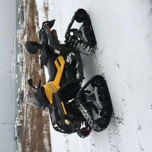 2012 Can-Am Quad with tracks and tires