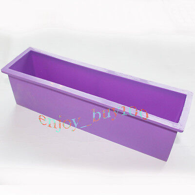 Flexible Rectangular Soap Silicone Mold Making for Homemade Soap Crafts on Rummage