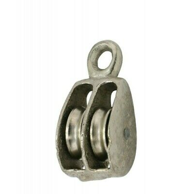 12 Double Solid Eye Wire Rope Pulleys Pk. 10