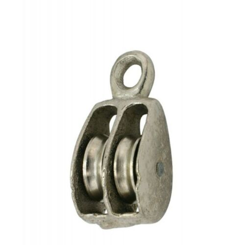 """2"""" DOUBLE SOLID EYE WIRE ROPE PULLEYS PK. 5"""