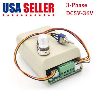 Dc 5v 12v 24v 36v 15a 3-phase Dc Brushless Motor Speed Controller Cw Ccw Switch