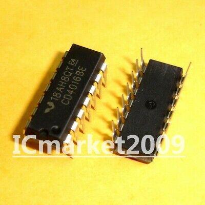 10PCS CD4016BE IC QUAD BILATERAL SWITCH 14-DIP CD4016 4016 CD4016B 4016B 4016BE