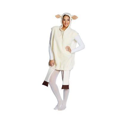Rub - Unisex Kostüm weißes Schaf Karneval Fasching -