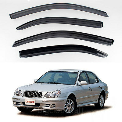 New Rain Guards Window Smoke Black Vent Visors for Hyundai EF Sonata 2003-2005