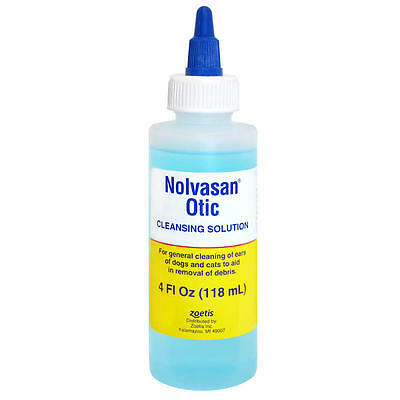 ZOETIS NOLVASAN OTIC SOLUTION for Cleaning External Ear Canal Dogs Cats 4oz,