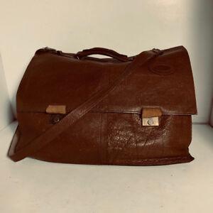 VINTAGE - malette/briefcase en cuir - homme