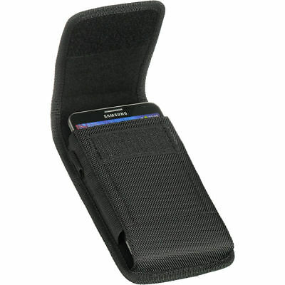 New Ballistic Nylon Tactical Holster Pouch Case Belt Loop for LARGE PHONES Black