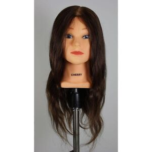 "HUMAN HAIR Mannequin Head ""cherry"" for Hairdressers or Hairstylists Geelong Geelong City Preview"