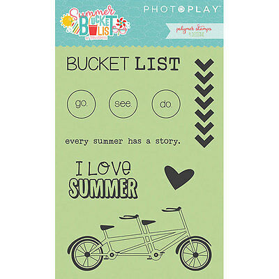 Scrapbooking Cards Crafts Stamps Summer Bucket List Go See Do Bicycle Chevrons](Summer Crafts)