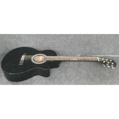 "J&Z JZ-AGK01 Cutaway Acoustic Guitar 40"" Mahogany Black *"