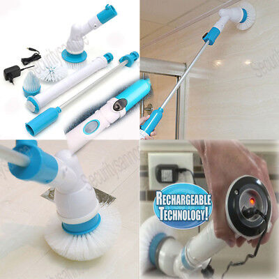 NEW Cordless Electric Power Scrubber Brush Rotating House Bathtub Cleaning Tool