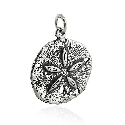 Sand Dollar Charm - 925 Sterling Silver Beach Seashell Ocean Urchin Sea Cookie - Sand Dollar Cookies