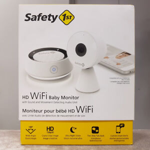 Safety First HD Audio & Video Baby Monitor