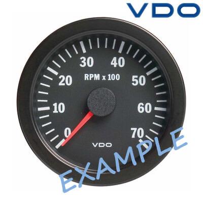 """VDO Viewline Tachometer Rev Counter LCD Hourmeter 5000 RPM 3"""" White A2C59510055"""