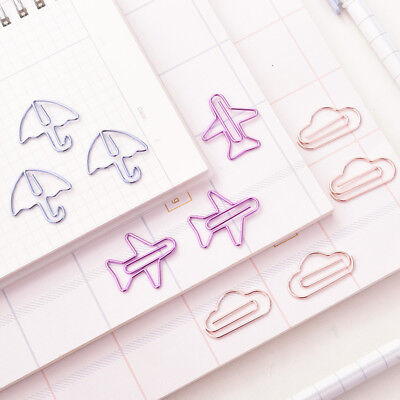 12pcs Cute Cartoon Shape Mini Clips Kawaii Stationery Photos Letter Paper Clips