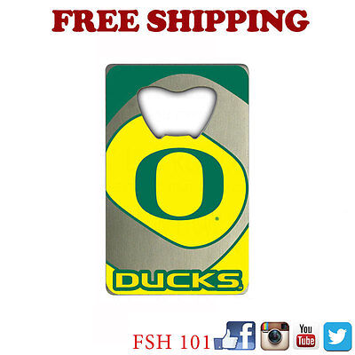 New NCAA Oregon Ducks Beer Soda Bottle Opener Credit Card Style Made In (Ncaa Oregon Ducks Bottle Opener)