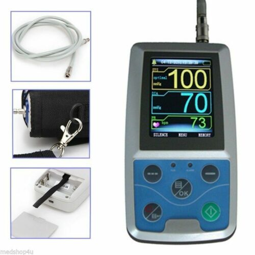 NIBP Monitor 24HOUR Ambulatory Blood Pressure Holter +PC SOFTWARE ABPM50 NEW FDA