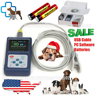 Handheld Veterinary Pulse Oximeter Cms60d-vet With Tongue Spo2 Probepc Software