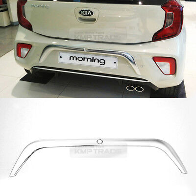 Chrome Rear Number Plate Garnish Molding D894 for KIA 2017-2019 Picanto Morning