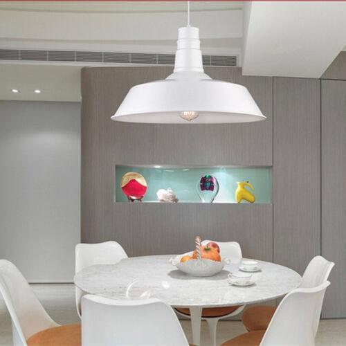 Details about White Ceiling Lamp Home Vintage Pendant Light Kitchen  Lighting Bar Metal Lights