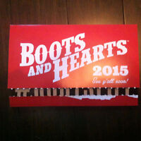 2 Boots and Hearts tickets WITH CAMPING!