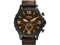 REAL GENUINE MENS FOSSIL NATE CHRONOGRAPH WATCH JR1487 WATCHES GIFT MEN