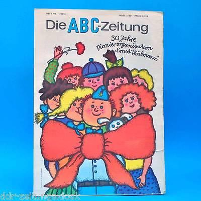 DDR ABC-Zeitung 11-1978 Zeitschrift für Junge Pioniere + Bastelbogen Pionier