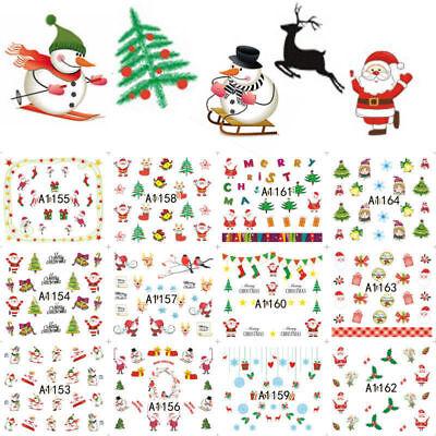 12× Christmas Thanksgiving Nail Art Stickers Snowflakes Cute Snowmen Nail Decals](Cute Snowflakes)
