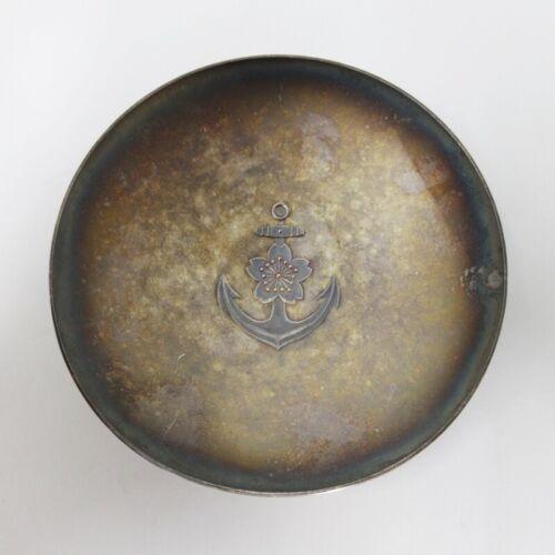 WWII Japanese Military Sake Cup Sterling Silver Navy Army SAKAZUKI Antique 1933