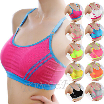 Fashion Womens Lady Cotton Sports Yoga Athletic Wrap Chest Strap Vest Tops Bra