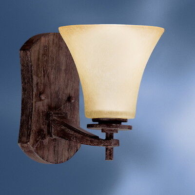 Kichler Canyon Slate Wall Sconce With Dusty Citrine Glass ()