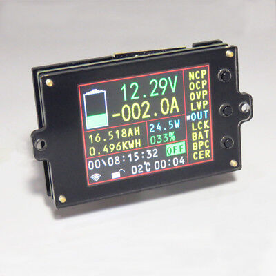 Wireless Battery Monitor Meter DC 120V 300A VOLT AMP AH SOC Remaining Capacity