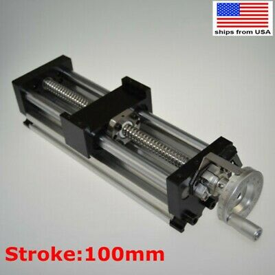 100mm Manual Sliding Table Sfu1605 Ballscrew Linear Stage Actuator Cnc Slide