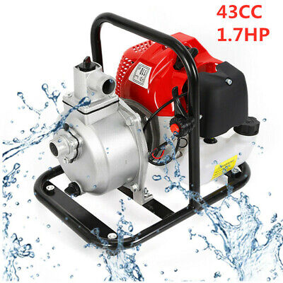 43cc 1.7hp Petrol High Flow Water Transfer Pump Irrigation 2 Stroke Portable Us