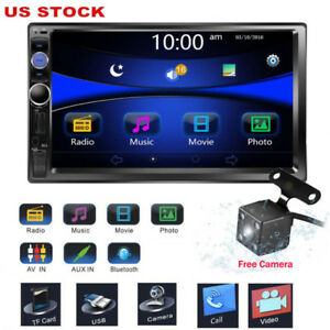 BLUETOOTH CAR STEREO RADIO 7 IN TOUCH SCREEN & BACKUP CAMERA