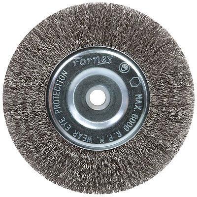 Forney 6 In. Dia. Coarse Crimped 58 In. Wire Wheel Brush 6000 Rpm