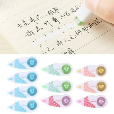 10 Pcs Mini Roller Correction Tape White Sticker Eraser Office School Stationery
