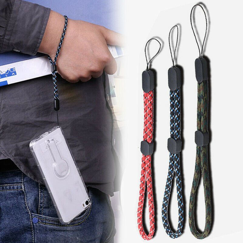 3Pcs Adjustable Hand Wrist Strap Hand Lanyard Holder Phone Strap Rope Keychain
