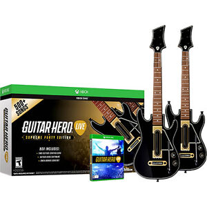 Guitar Hero Live with two guitar controllers